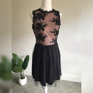 Black and Crepe Pink Tulle Dress